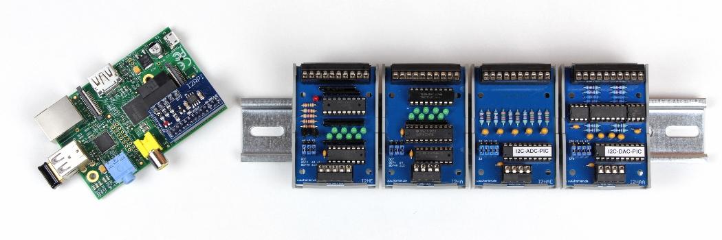 Raspberry-PI mit SPS-Baugruppen