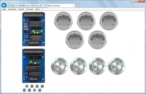 Webvisualisierung der I2C-SPS Baugruppen