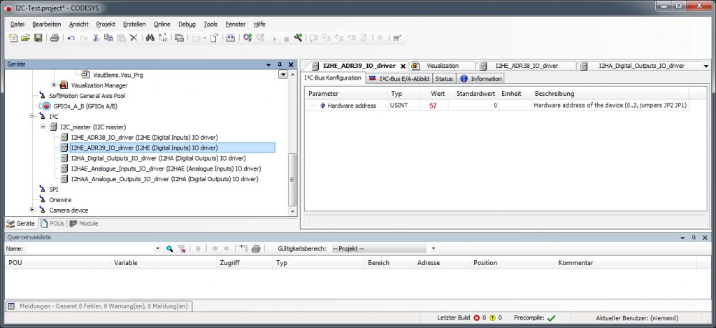 Weitere I2C-Baugruppen in CODESYS einbauen
